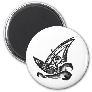 Funky Windsurfer Magnet