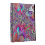 funky wispy colorful abstract fractal art iPad folio covers