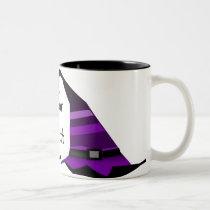 fUNKY WITCH HAT Two-Tone Coffee Mug