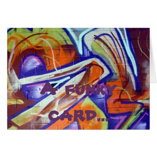 funky world graffiti designs and slogans card