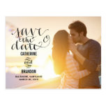 Funky Writing Save The Date Post Cards