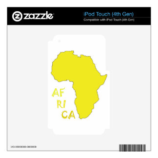 Funky Yellow Africa Map Decal For iPod Touch 4G