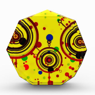 Funky Yellow and Red Circles Pattern Art Awards