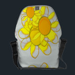 "Funky Yellow Flowers Messenger Bag<br><div class=""desc"">Funky yellow flowers</div>"
