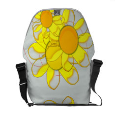 Funky Yellow Flowers Messenger Bag at Zazzle