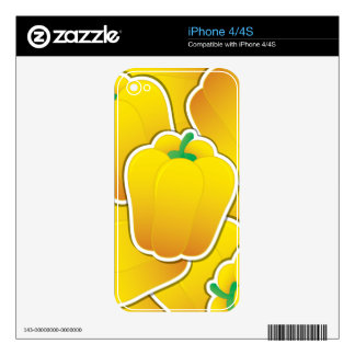 Funky yellow pepper decals for the iPhone 4S