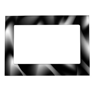 Funky Zebra Abstract Black and White Magnetic Photo Frame