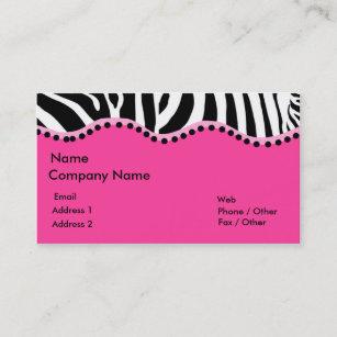 Pink zebra business cards zazzle funky zebra business card colourmoves