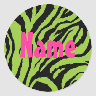 Funky Zebra Girl 2 Customizalbe Sticker