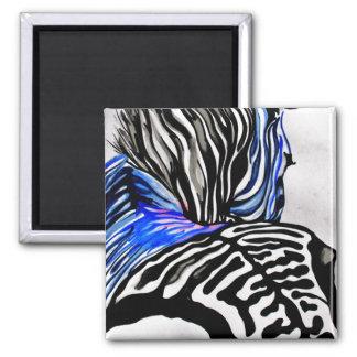 Funky Zebra (K.Turnbull Art) Magnet