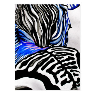 Funky Zebra (K.Turnbull Art) Postcard