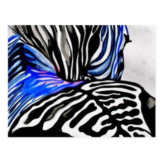 Funky Zebra (K.Turnbull Art) Postcard