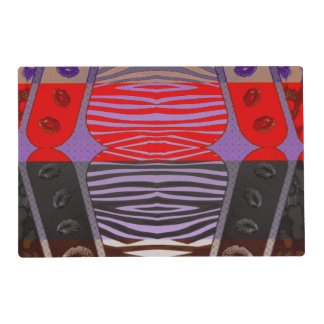 Funky Zebra Lips Placemat