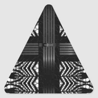 Funky Zebra Stripes Triangle Sticker