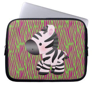 Funky Zebra & Texture Animal Print Laptop Sleeve