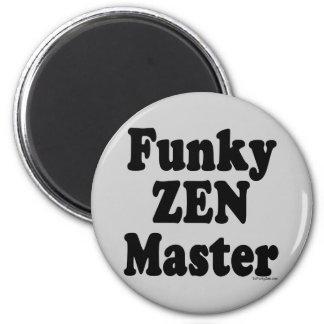 Funky Zen Master 2 Inch Round Magnet