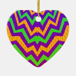Funky Zig~Zag Ceramic Ornament