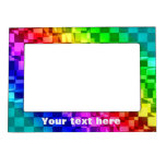 Funly punk checkerboard in raibow colors magnetic frames