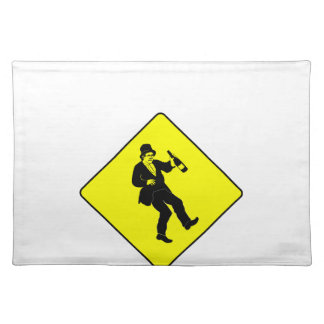 Funn Drunk Man Sign Cloth Placemat