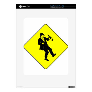 Funn Drunk Man Sign Decal For The iPad