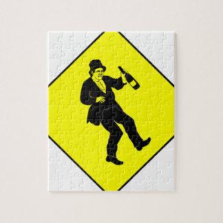 Funn Drunk Man Sign Jigsaw Puzzle