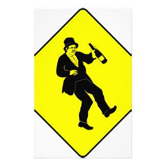 Funn Drunk Man Sign Stationery