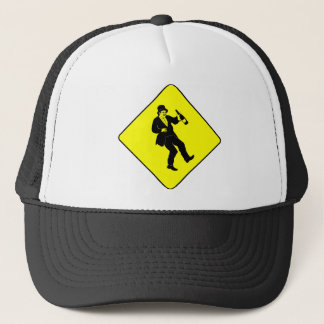Funn Drunk Man Sign Trucker Hat