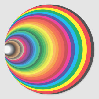 FUNNEL COLOR SWATCH CLASSIC ROUND STICKER