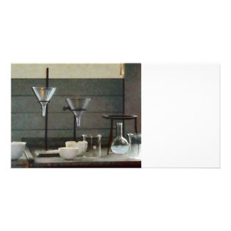 Funnels, Flasks and Crucibles Customized Photo Card