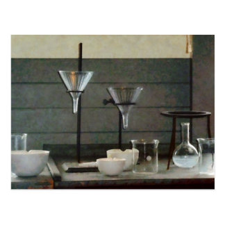 Funnels, Flasks and Crucibles Post Card