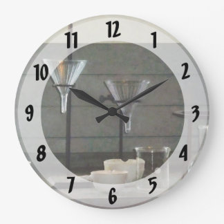 Funnels, Flasks and Crucibles Wall Clocks