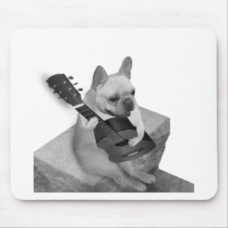 funnfrenchbulldog-guitar-items mouse pad