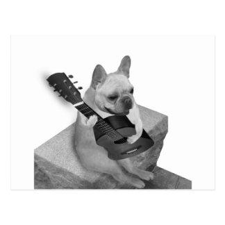 funnfrenchbulldog-guitar-items postcard