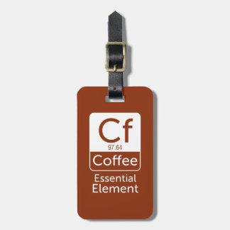 FunnFunny Chemistry Pun Joke coffee essential elem Luggage Tag