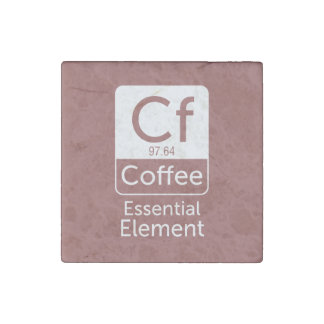 FunnFunny Chemistry Pun Joke coffee essential elem Stone Magnet