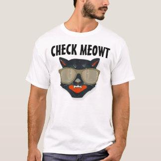 Funniest Cat t-shirts, CHECK MEOWT funny T-Shirt