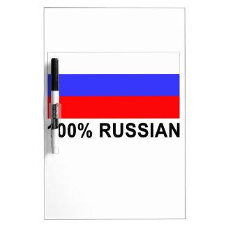 Funny 100 percent Russian Gift Present Dry Erase Board