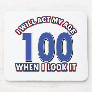 Funny 100 year old designs mouse pad
