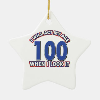 Funny 100 year old designs christmas ornaments