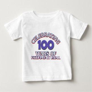 Funny 100th birthday designs baby T-Shirt