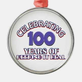 Funny 100th birthday designs ornaments