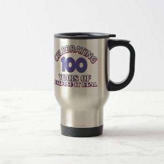 Funny 100th birthday designs travel mug