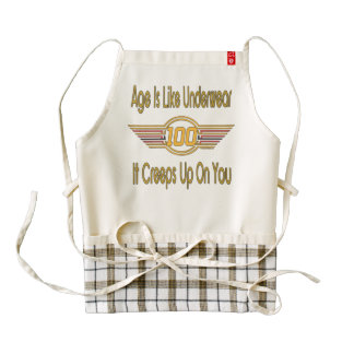 Funny 100th Birthday Gifts. Age is like underwear, Zazzle HEART Apron