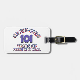 Funny 101st birthday designs tag for bags