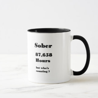 funny 10 year sobriety mug. mug