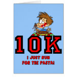 Funny 10K race Greeting Cards