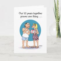 Funny 10th Anniversary Card