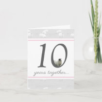 Funny 10th tin husband/ wife anniversary card