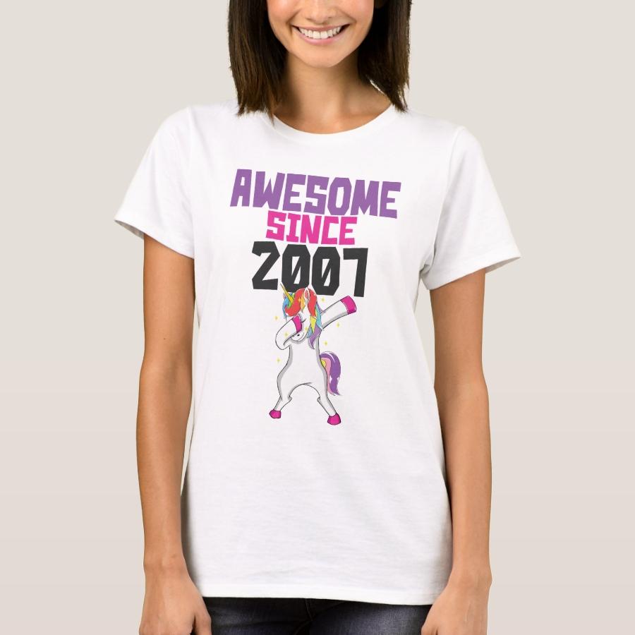 Funny 11th Birthday Dabbing Unicorn Lover 11 Year T-Shirt - Best Selling Long-Sleeve Street Fashion Shirt Designs