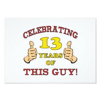 Funny 13th Birthday For Boys Card